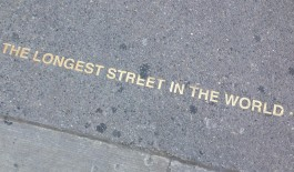 Yonge St. – the longest street in the world (1,178 miles long!)
