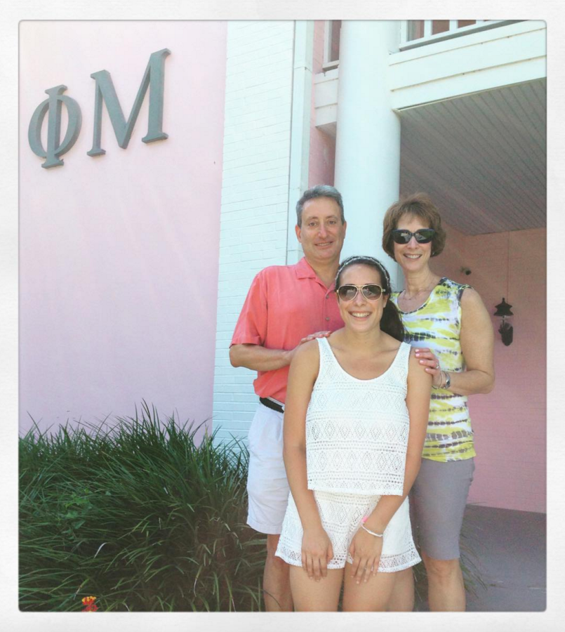 I had a lovely time with my parents during Phi Mu Family Weekend!