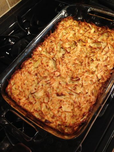 Potato kugel reminds me that there is good in the world.
