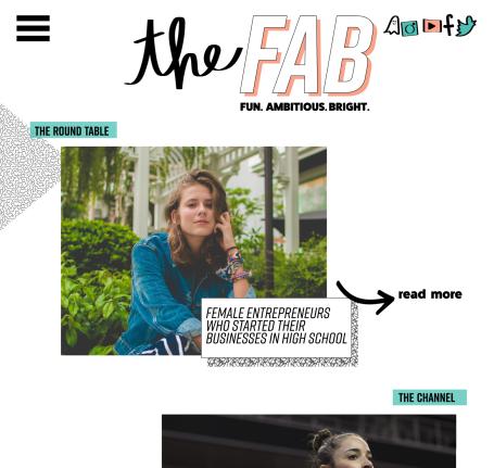 Web landing page mockup